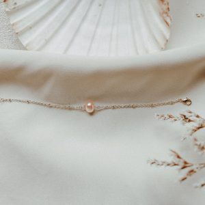 LIMITED EDITION: Rebecca Armband mit Perle in Apricot