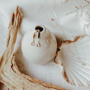 Iris Ohrringe im minimalistischen Design