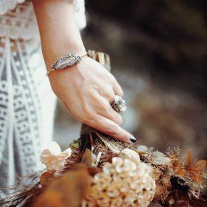 Sturdy Ring mit Bergkristall und Pyrit