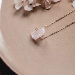 Gemstones Kette Rosenquarz