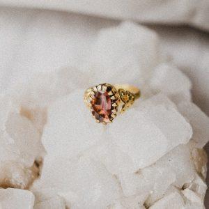 Vintage Ring mit braunem Stein