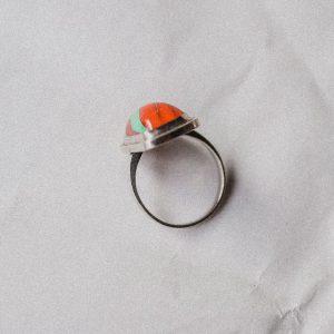 Silberner Vintage Ring mit außergewöhnlichem Stein