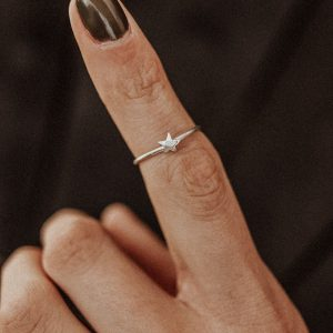 Textured Star Ring