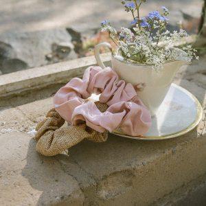 Lovely Linen Scrunchie