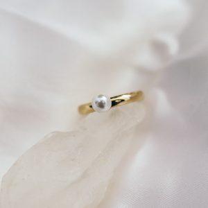 Vintage Ring mit Perle