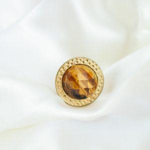 Vintage Ring mit Tigerauge