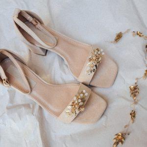 Schuhclips Gold
